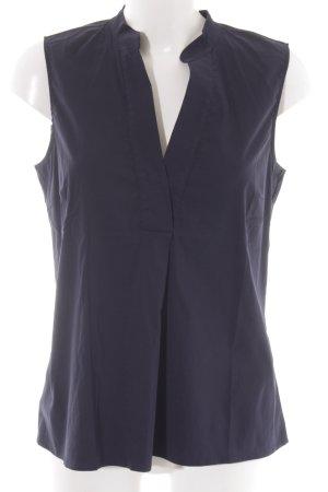 More & More ärmellose Bluse dunkelblau Business-Look