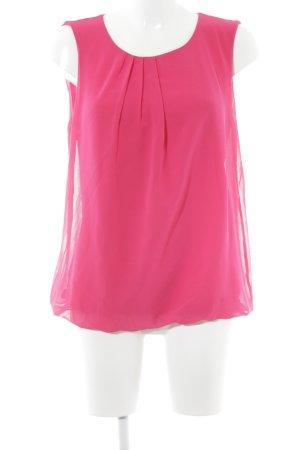 More & More ärmellose Bluse magenta Elegant