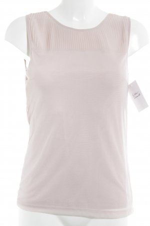 More & More ärmellose Bluse rosé Romantik-Look