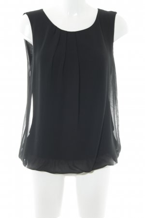 More & More ärmellose Bluse schwarz Elegant