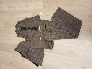 More&More Anzug,kariert,  dreiteilig, braun, neu
