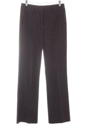 More & More Anzughose dunkelbraun-wollweiß Nadelstreifen Business-Look