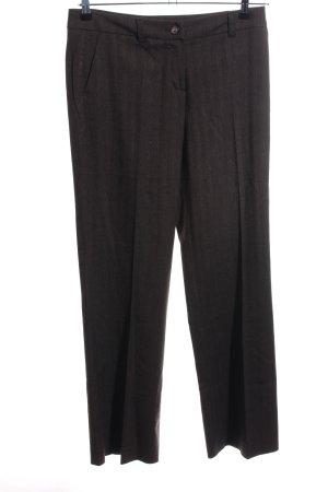 More & More Anzughose schwarz-braun Streifenmuster Business-Look