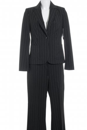 More & More Suit Trouser black-white striped pattern business style
