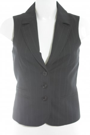 More & More Waistcoat dark blue-white striped pattern business style