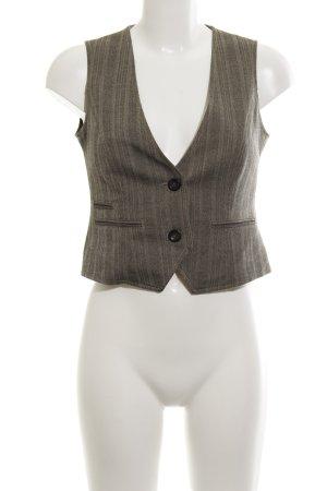 More & More Anzugweste graubraun schlichter Stil