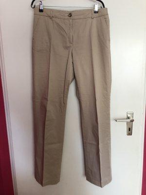 More & More Pantalón de cintura alta beige Algodón