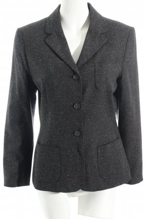 More & More Blazer anthrazit-weiß meliert Business-Look