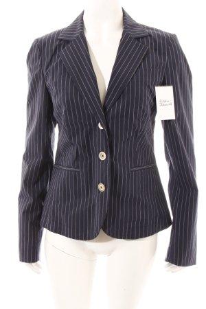 More & More Blazer dunkelblau-weiß Nadelstreifen Business-Look