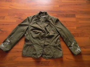 MORE & MORE Blazer Jacke Gr. 42 khaki  tailliert