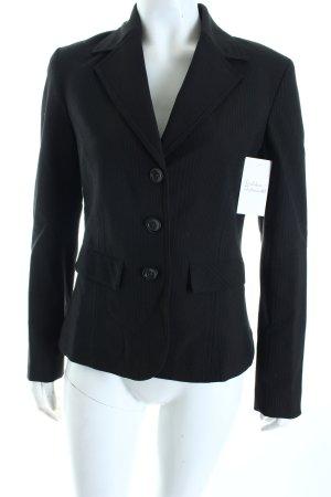 More & More Blazer schwarzbraun Nadelstreifen Business-Look