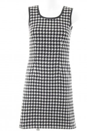 More & More Robe crayon noir-blanc motif pied-de-poule style d'affaires