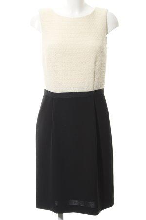 More & More Robe crayon noir-blanc cassé style d'affaires
