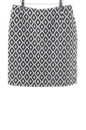 More & More Jupe crayon blanc-gris anthracite imprimé allover élégant