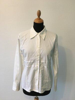 More&more Bluse Spitzer Kragen Baumwolle Stretch Tailliert 40 paspeliert edel elegant schlicht zeitlos  more