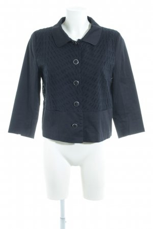 More & More Veste chemisier bleu foncé motif tricoté lâche