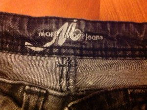 More & more boot cut jeans schwarz