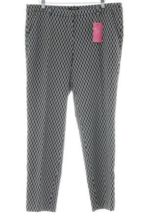More & More Pantalon à pinces motif abstrait style décontracté