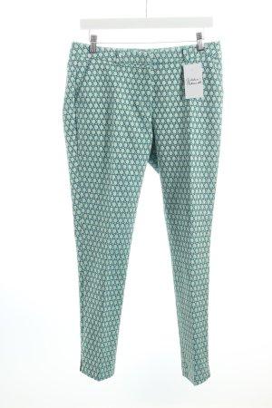 More & More Bundfaltenhose abstraktes Muster klassischer Stil