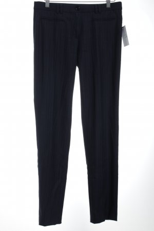More & More Bundfaltenhose dunkelblau Business-Look
