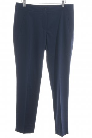 More & More Bundfaltenhose dunkelblau Business-Look