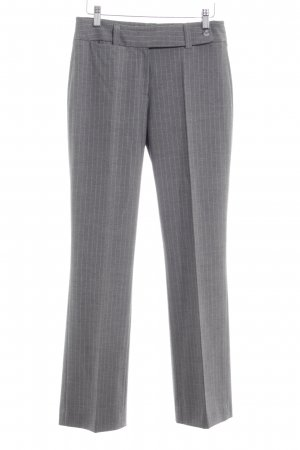 More & More Bundfaltenhose grau-hellgrau Streifenmuster Business-Look