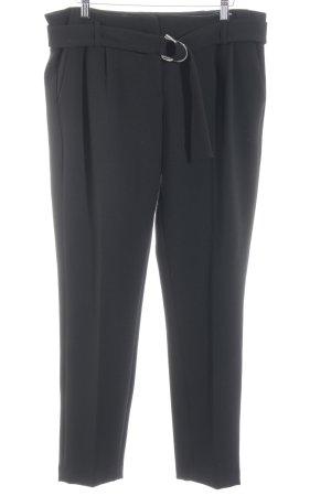 More & More Pantalon à pinces noir style décontracté