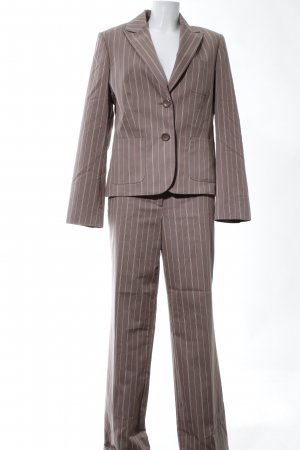 More & More Business Suit brown striped pattern business style