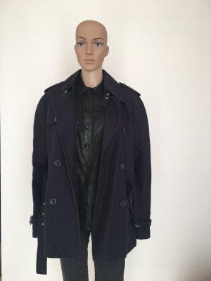 More&more Caban Zweireiher  doppelreihig Trenchcoat trench Mantel Jacke dunkelblau Navy edel klassisch musthave Winter Outdoor Gürtel