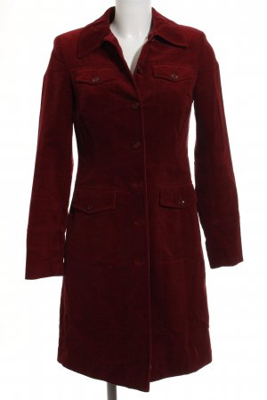 More & More Heavy Pea Coat dark red casual look