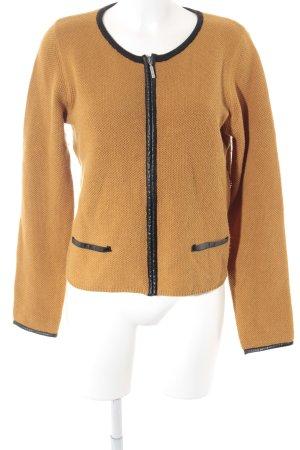 More & More Cardigan schwarz-ocker Casual-Look