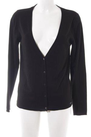 More & More Cardigan schwarz schlichter Stil