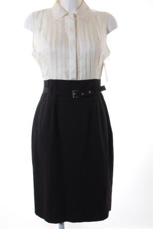 More & More Vestido de cóctel blanco puro-negro look casual