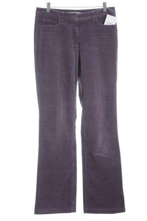 More & More Pantalon en velours côtelé violet style décontracté