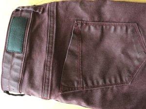 More&More, dunkelrote Hose, leicht beschichtet, 38