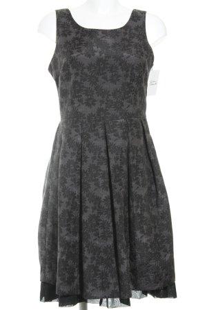 More & More Etuikleid graulila-schwarz Blumenmuster Elegant
