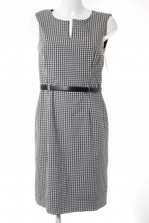 More & More Sheath Dress black-white check pattern business style