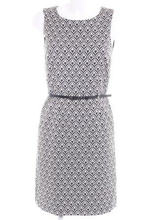 More & More Etuikleid weiß-schwarz abstraktes Muster Elegant