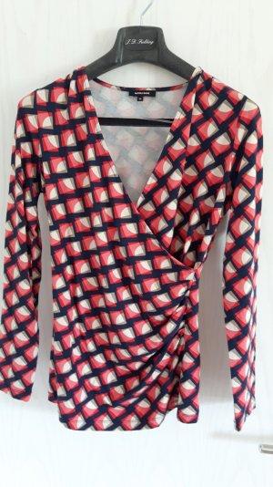 MORE&MORE, Farbenfrohes Shirt mit Raffung, Größe 36, kaum getragen