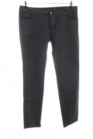 More & More Five-Pocket Trousers black allover print casual look