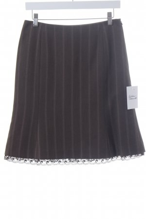 More & More Godet Skirt brown-pink pinstripe business style