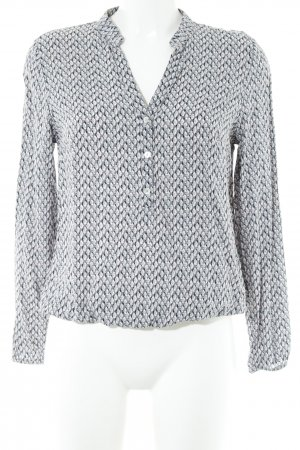 More & More Hemd-Bluse grau-rosa abstraktes Muster Casual-Look