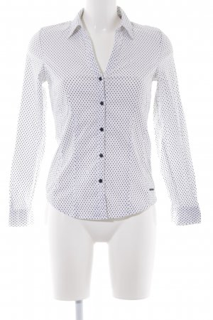 More & More Blouse-chemisier blanc-noir motif de tache style simple