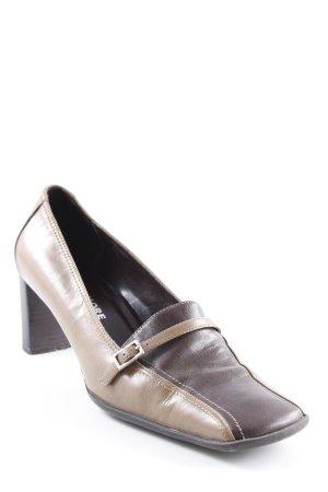 More & More High Heels hellbraun-dunkelbraun Schnallenelemente