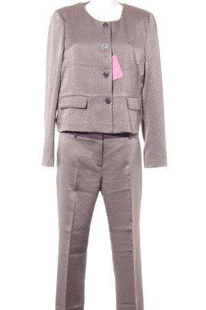 More & More Broekpak mauve-grijs-lila geruite print elegant