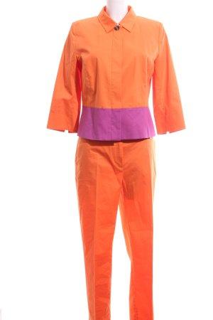 More & More Tailleur-pantalon orange clair-violet style décontracté