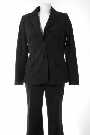 More & More Trouser Suit black pinstripe business style