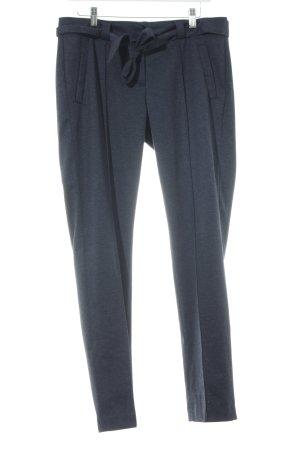 More & More Pantalone a vita bassa blu scuro puntinato stile casual