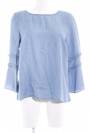 More & More Jeansbluse himmelblau Casual-Look