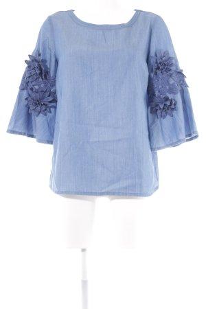 More & More Jeansbluse kornblumenblau Casual-Look